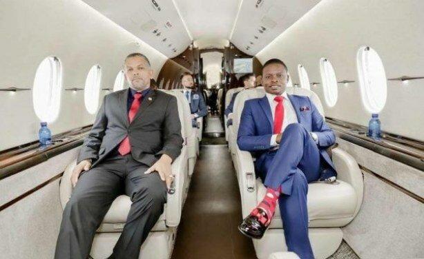 Prophet Bushiri in his Jet